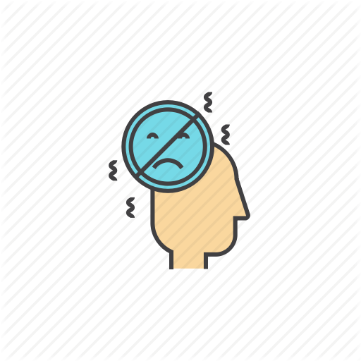 Depression, Negative, Thinking, Thoughts, Worries, Worrying Icon