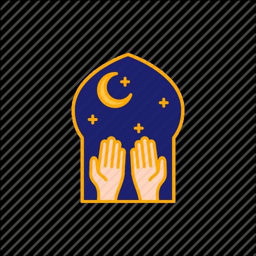 Fitr, Forgive, Hand, Islam, Mosque, Muslim, Night Icon