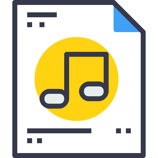 Document, Paper, Music, Message, Office, Page, Business, Form Icon
