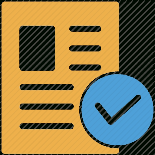 Admission Form, Application Form, Approved, Check Mark Icon