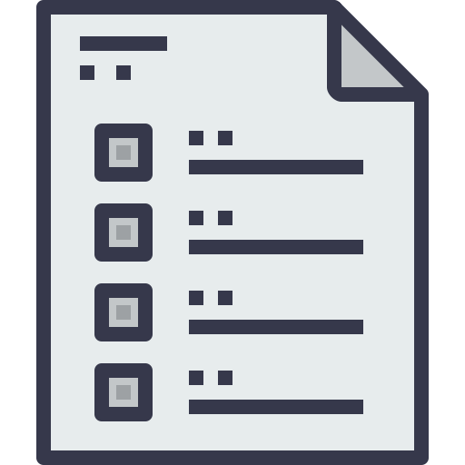 Document, Paper, Message, List, Office, Page, Business, Form Icon