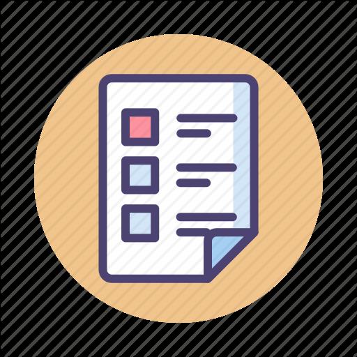 Assignment, Checklist, Note Icon