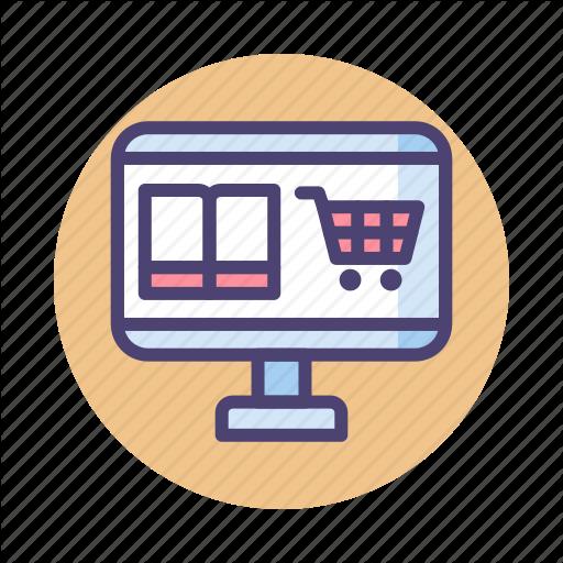 Bookstore, Ebook, Online Bookstore Icon