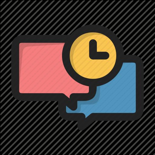 Chat, Clock, Dialog, Forum, Message, Time, Wait Icon