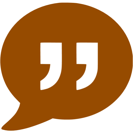Brown Quote Icon