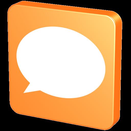 Forum Orange Icon Social Iconset Aha Soft