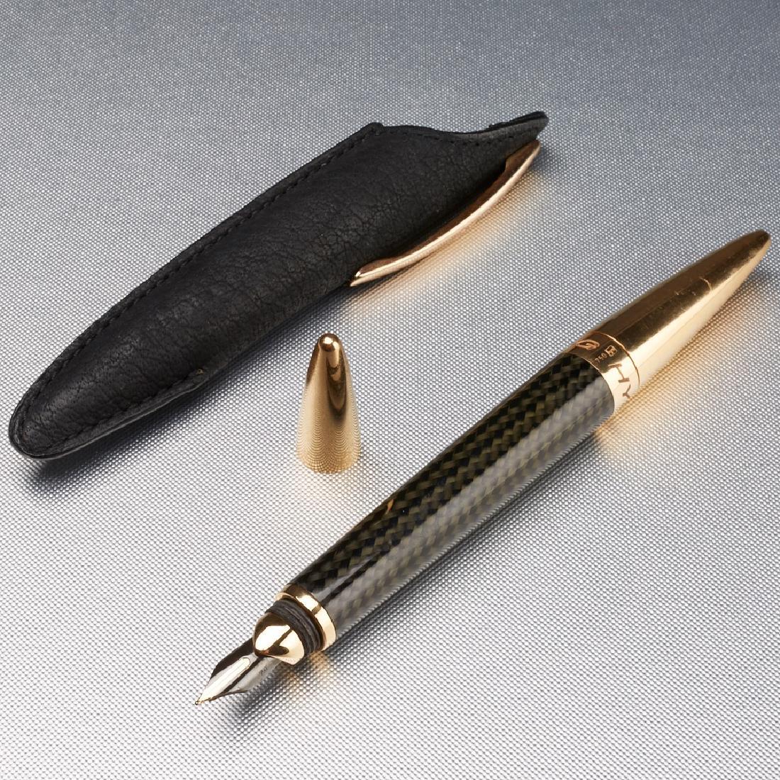 Jorg Hysek Carbon Fiber And Gold Fountain Pen