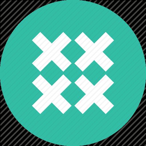Crosses, Design, Four Icon