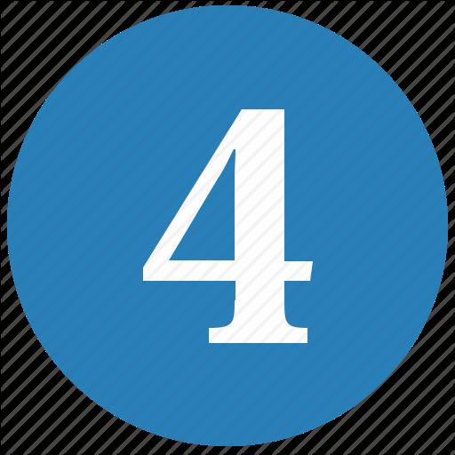 Four, Keyboard, Keypad, Number, Round Icon