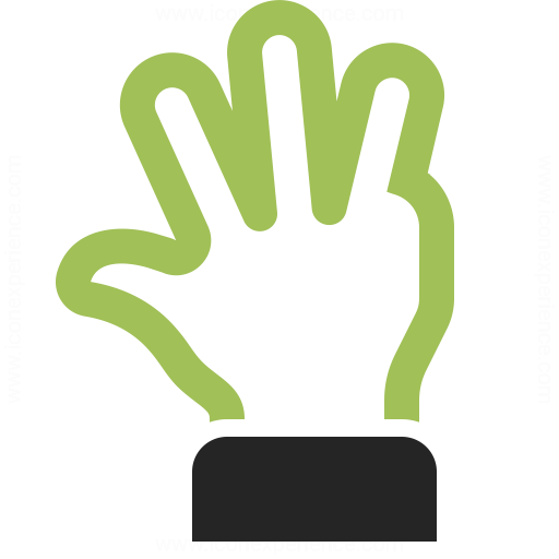 Hand Four Icon Iconexperience