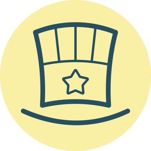 Top, Hat, Festive, Hat With Star, Tophat, Fourth Of July, Fest Icon