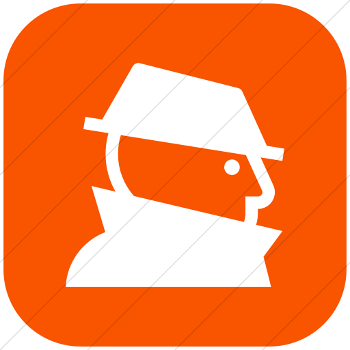 Flat Rounded Square White On Orange Iconathon Fraud Icon