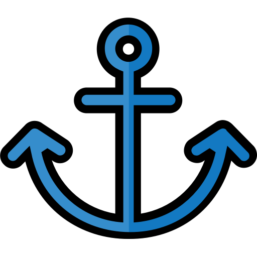 Anchor, Filled, Heavy, Marine, Nautical, Naval, Travel Icon