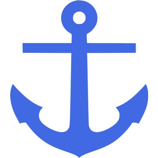 Royal Blue Anchor Icon