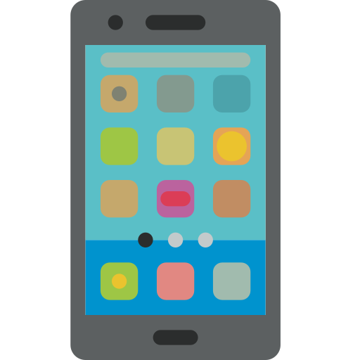 Android, Mobile, Phone, Smartphone Icon Free Of Colored Hand Phone