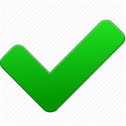 Green Check Mark Icon Transparent Png Clipart Free Download