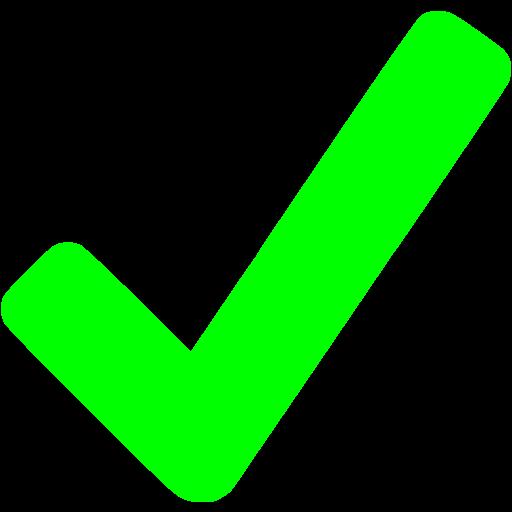 Lime Checkmark Icon