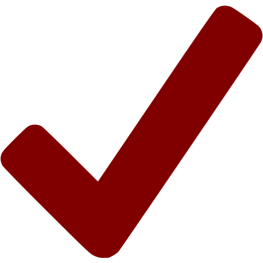 Maroon Checkmark Icon
