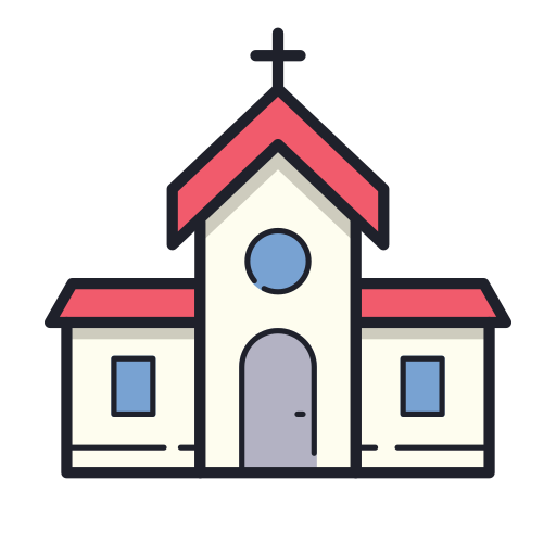 Church Icon Free Of Merry Holidays