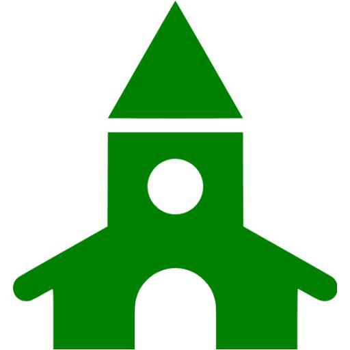 Green Church Icon