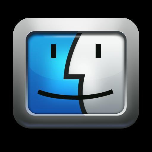 Apple, Face, Finder, Mac Os X, Mettalic Icon