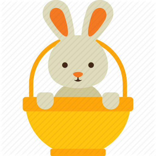Animal, Basket, Bunny, Easter, Rabbit Icon