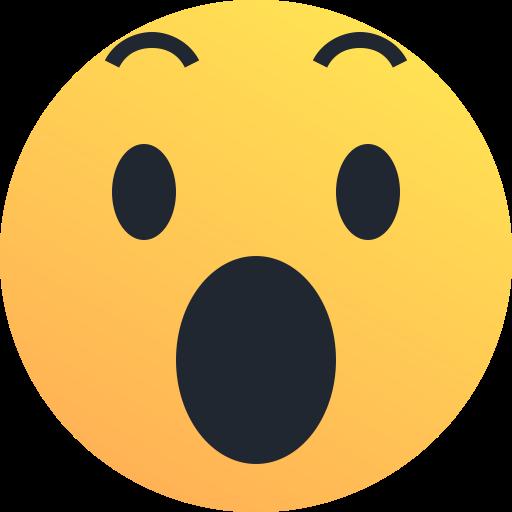 Amaze, Emoji, Emoticon, Reaction, Shock, Surprise Icon
