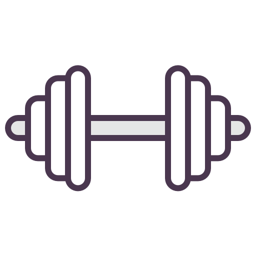Weighs, Workout, Sport, Fitness, Bodybuilding Icon Free Of Line