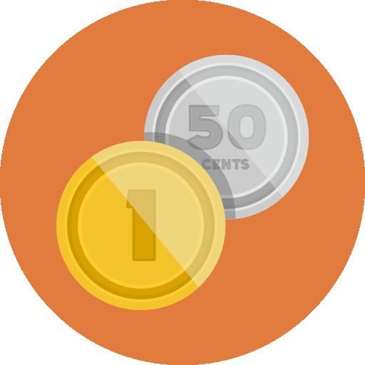 Coins Icon Flat Iconset Flat