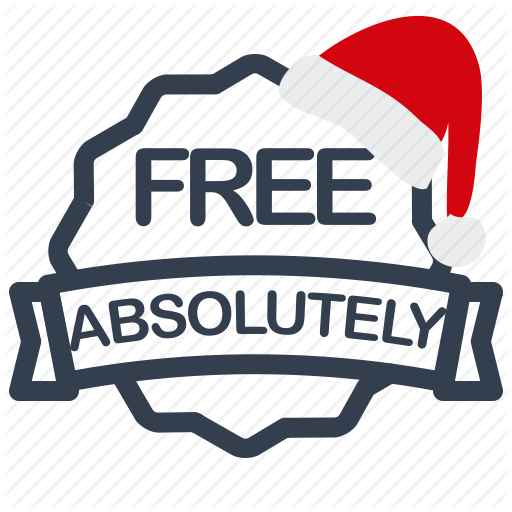 Absolutely, Christmas, Free, Label, Sale Icon
