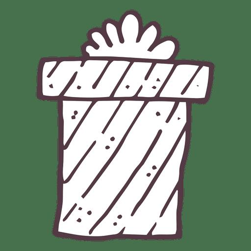 Christmas Gift Box Hand Drawn Icon