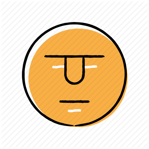 Emoji, Emoticon, Hand Drawn, Serious Icon