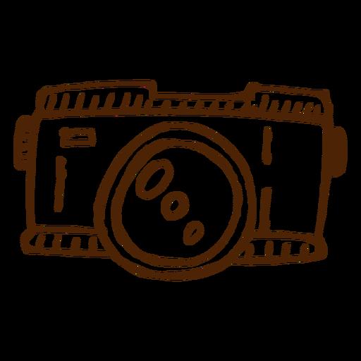 Hand Drawn Camera Icon Camping