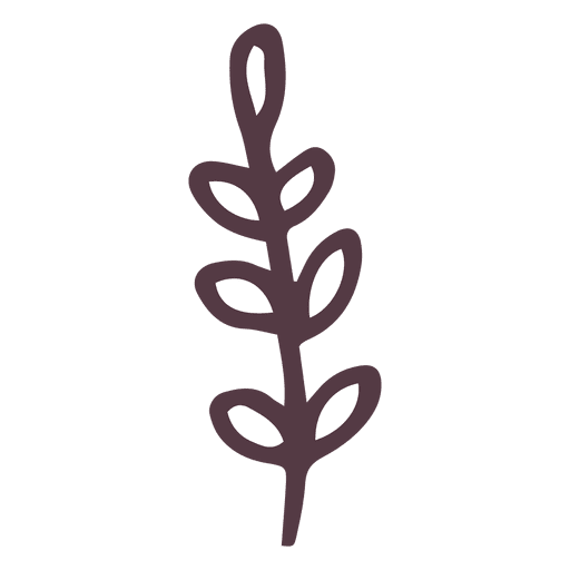 Olive Branch Hand Drawn Icon