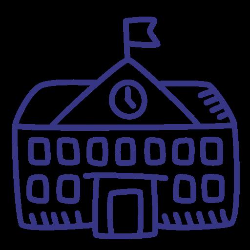 School, Building, University Icon Free Of School Outline Hand