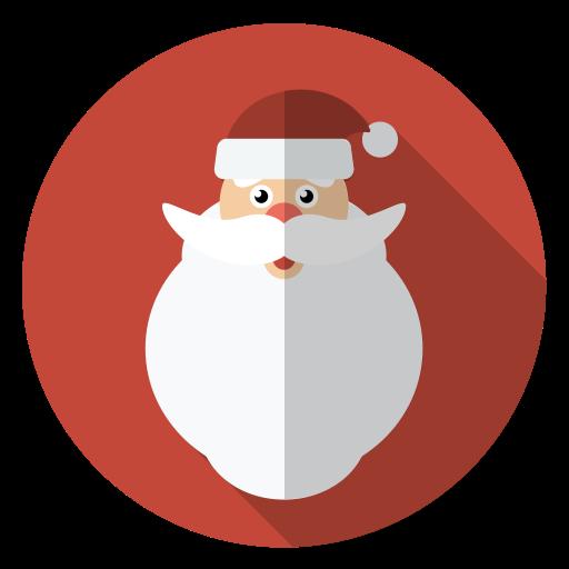 Christmas, Face, Hairy, Holiday, Santa, Winter, Xmas Icon
