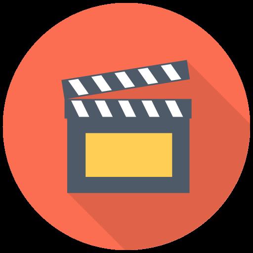 Clapper Icon Free Flat Multimedia Iconset Designbolts