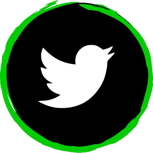 Twitter Free Green Social Media Art Brush Style Icon Designed