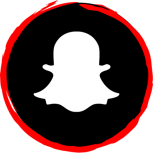 Snapchat Free Red Social Media Art Brush Style Icon Designed