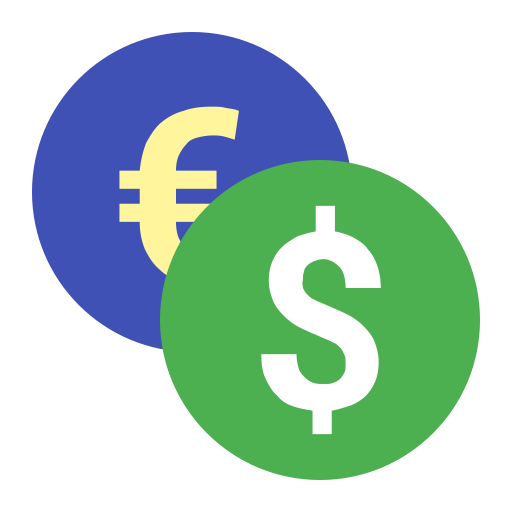 Currency Converter, Exchange, Finance Icon With Png And Vector