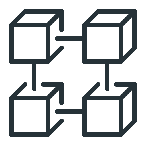 Blockchain, Blocks, Data, Database Icon