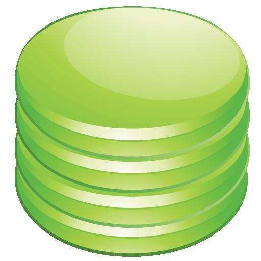 Database, Green Icon