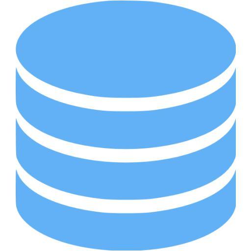 Tropical Blue Database Icon