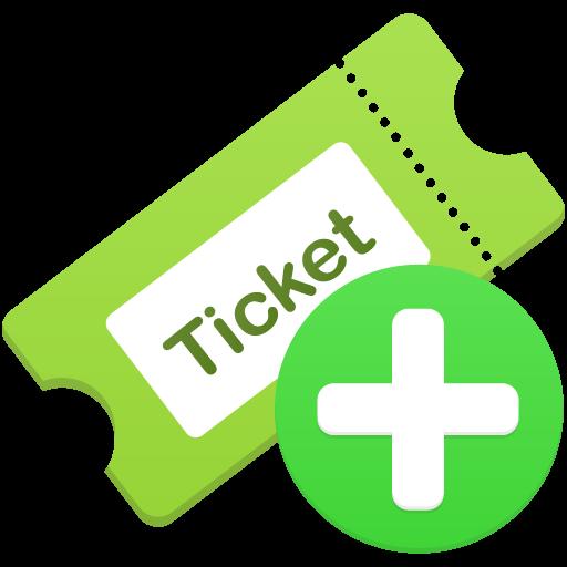 Add Ticket Icon Flatastic Iconset Custom Icon Design