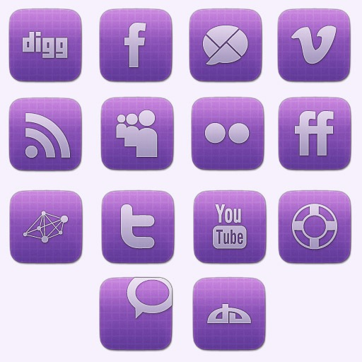 Awesome Vibrant Sophisticated Social Media Icon Designs Free