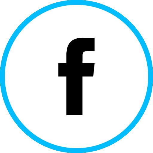 Facebook Free Social Media Blue Round Outline Icon Design