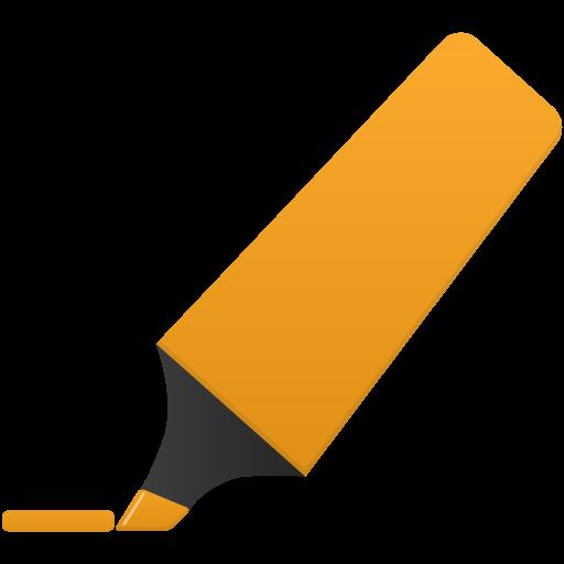 Highlightmarker Orange Icon Flatastic Iconset Custom Icon Design