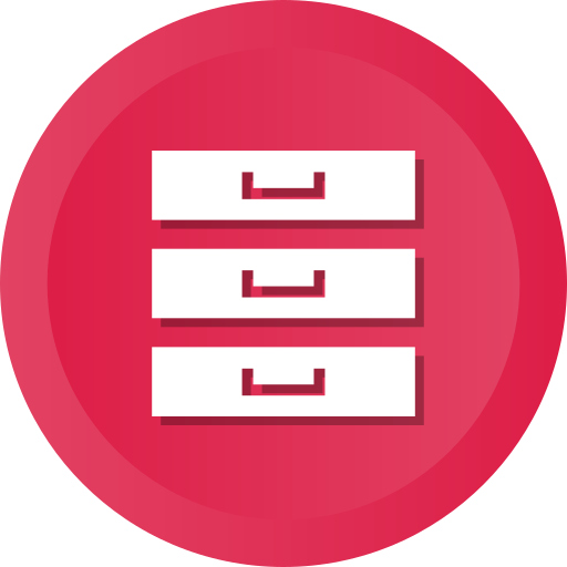 Archive, Archives, Files, Hosting, Database, Server, Storage Icon