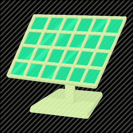 Cartoon, Generator, Green, Panel, Solar, Solar Panel, Sun Icon