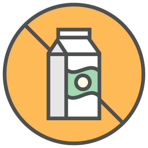 Dairy, Free, Allergens Icon Free Of Allergy Info Cosmetic